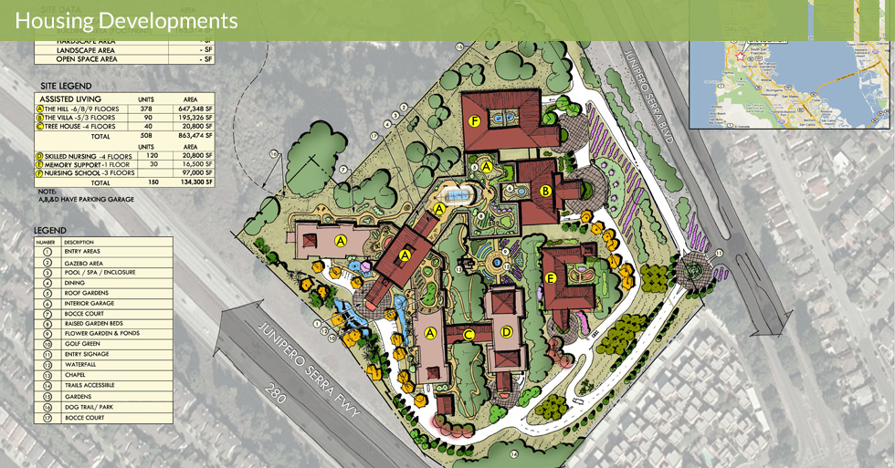 Melton Design Group, a landscape architecture firm, designed Assisted Living at Sierra Vista in Daly City, CA.