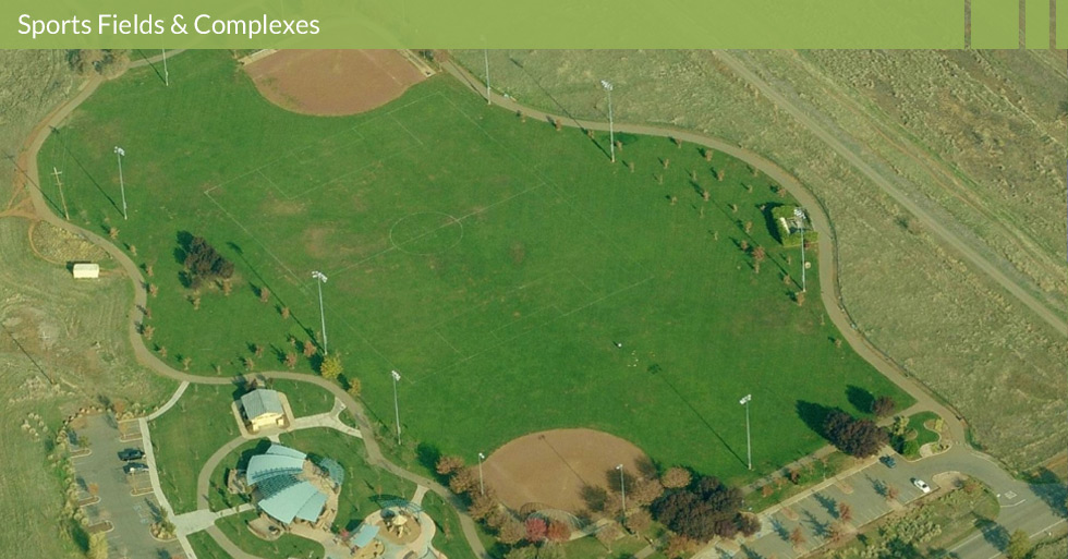 Melton Design Group, Landscape Architecture Firm designed Wildwood Park in Chico, CA. When master planning sports fields or sports complexes one of the key steps is using state of the art irrigation systems and water conservation. Wildwood Park features baseball field design, soccer field design, sustainable irrigation systems, and unique trail systems.